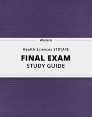 [Health Sciences 3101A/B] - Final Exam Guide - Everything you need to know! (60 pages long)