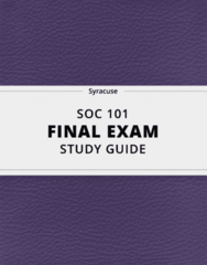 [SOC 101] - Final Exam Guide - Everything you need to know! (38 pages long)