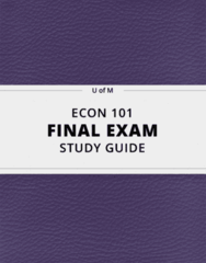 [ECON 101] - Final Exam Guide - Ultimate 22 pages long Study Guide!