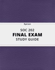 [SOC 202] - Final Exam Guide - Everything you need to know! (24 pages long)