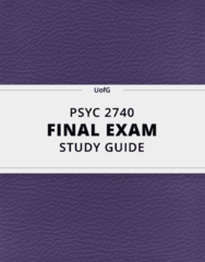 [PSYC 2740] - Final Exam Guide - Comprehensive Notes fot the exam (112 pages long!)