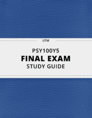 [PSY100Y5] - Final Exam Guide - Ultimate 135 pages long Study Guide!