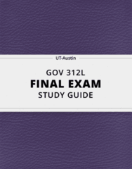 [GOV 312L] - Final Exam Guide - Comprehensive Notes fot the exam (23 pages long!)