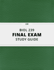 [BIOL 239] - Final Exam Guide - Comprehensive Notes fot the exam (129 pages long!)