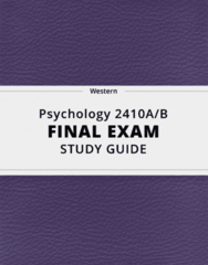 [Psychology 2410A/B] - Final Exam Guide - Comprehensive Notes fot the exam (61 pages long!)
