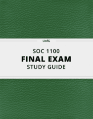 [SOC 1100] - Final Exam Guide - Everything you need to know! (37 pages long)
