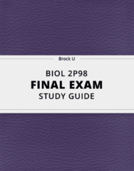 [BIOL 2P98] - Final Exam Guide - Ultimate 66 pages long Study Guide!