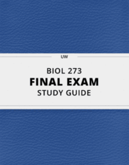 [BIOL 273] - Final Exam Guide - Everything you need to know! (25 pages long)