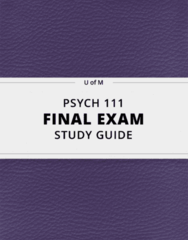[PSYCH 111] - Final Exam Guide - Ultimate 77 pages long Study Guide!