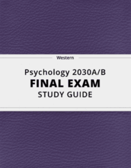 [Psychology 2030A/B] - Final Exam Guide - Comprehensive Notes fot the exam (67 pages long!)