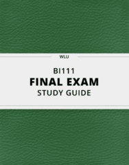 [BI111] - Final Exam Guide - Comprehensive Notes fot the exam (88 pages long!)