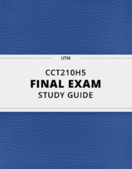 [CCT210H5] - Final Exam Guide - Everything you need to know! (37 pages long)