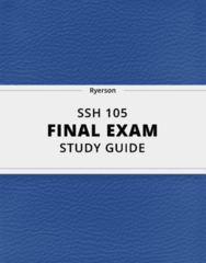 [SSH 105] - Final Exam Guide - Comprehensive Notes fot the exam (31 pages long!)