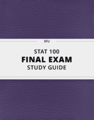 [STAT 100] - Final Exam Guide - Everything you need to know! (46 pages long)