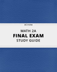 [MATH 2A] - Final Exam Guide - Everything you need to know! (74 pages long)
