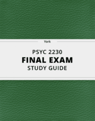 [PSYC 2230] - Final Exam Guide - Ultimate 62 pages long Study Guide!