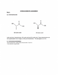 sbc 200 Lecture Notes - Lecture 27: Stereocenter, Stereoisomerism, Enantiomer