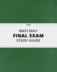 [MAT136H1] - Final Exam Guide - Everything you need to know! (50 pages long)