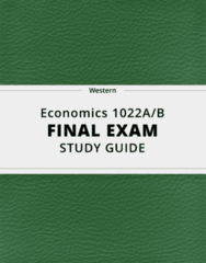 [Economics 1022A/B] - Final Exam Guide - Ultimate 43 pages long Study Guide!