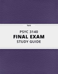 [PSYC 3140] - Final Exam Guide - Ultimate 53 pages long Study Guide!