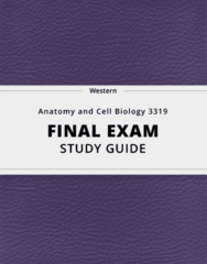 [Anatomy and Cell Biology 3319] - Final Exam Guide - Everything you need to know! (42 pages long)