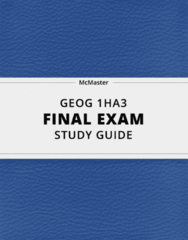 [GEOG 1HA3] - Final Exam Guide - Everything you need to know! (99 pages long)