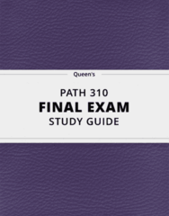 [PATH 310] - Final Exam Guide - Everything you need to know! (95 pages long)