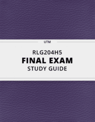 [RLG204H5] - Final Exam Guide - Everything you need to know! (90 pages long)