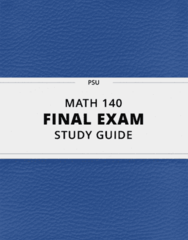 [MATH 140] - Final Exam Guide - Ultimate 33 pages long Study Guide!