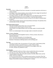 ENG 112 Lecture Notes - Lecture 9: Danse Macabre, List Of Primeval Characters, Scotiabank Giller Prize