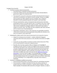 ES295 Study Guide - Quiz Guide: Ecotourism, Ecosystem Services, Biome