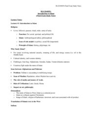 RLG204H5 Final: RLG204 final exam study notes
