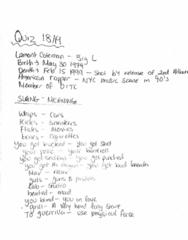 MUSI 2520 Midterm: Music 2520 - Ron Westray -quiz 18 + test 3