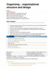 MGT10001 Chapter Notes - Chapter 12: Departmentalization, Job Enrichment, Design Week