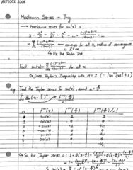 ARTSSCI 1D06 Lecture 80: Note 80 - Taylor & Maclaurin Series (Trig)