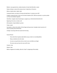 MUS 1301 Study Guide - Final Guide: Col Legno, Gustav Holst, Time Signature