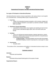 GEB 3375 Chapter Notes - Chapter 3: Freight Forwarder