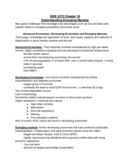 GEB 3375 Chapter Notes - Chapter 10: Offshoring, Corporate Social Responsibility, Planned Economy