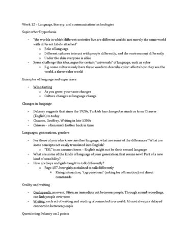 Sa 101 Lecture 12 Language Literacy And Communication