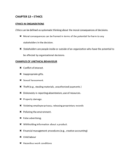 COMM 222 Chapter Notes - Chapter 12: User Friendly, Whistleblower, Creative Accounting