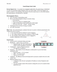 TH 2020 Study Guide - Midterm Guide: Cardioid, Low Frequency, Audio Crossover