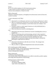 PSYC 3140 Lecture Notes - Lecture 1: Obsessive–Compulsive Disorder, Paraphilia, Lebron James