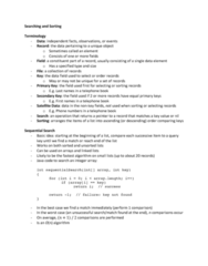 CPSC 319 Lecture Notes - Lecture 3: Linear Search, Data Element, Binary Search Algorithm