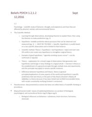 PSYC 1000 Chapter Notes - Chapter module 1.1, 1.2: Pseudoscience, Psychoanalysis, Phlegm