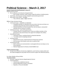 Political Science 1020E Lecture Notes - Lecture 15: World Wide Fund For Nature, Amicus Curiae, Mass Society