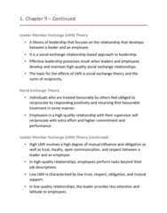 HROB 2090 Lecture Notes - Lecture 9: Social Exchange Theory, Herb Kelleher, Transactional Leadership