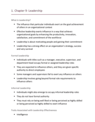 HROB 2090 Lecture Notes - Lecture 9: Job Satisfaction, Relationship Marketing, Trait Theory