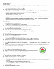 SOC 808 Lecture Notes - Lecture 11: Albert Howard, Biological Pest Control, Sewage Sludge