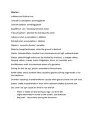 GLY-1103 Lecture Notes - Lecture 10: Porthole, Deglaciation, Landform