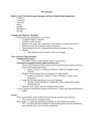 NUTR 3210 Lecture Notes - Lecture 12: Vitamin, Vitamin D Deficiency, Calcitriol Receptor